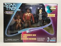 1998 Playmates 3 Pack Figure Star Trek Holodeck Series Data Worf Alexander TNG