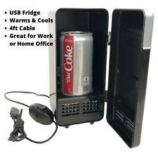 2 In 1 Desktop Mini Fridge USB Gadget Beverage Cans Cooler Warmer Refrigerator