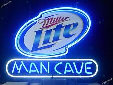 New Miller Lite Man Cave Beer Bar Real Glass Neon Light Sign FREE SHIPPING 14X10
