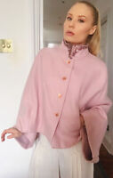 Ted Baker Pink Cashmere Wool Evening Cape W/ Jewel Collar Sz M Fits UK 8/10/12