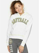 Justice Girl's Softball Glitter Hoodie - NEW NWT - b3