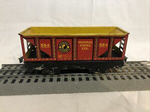 Vintage Tinplate O Marx Trains Northern Pacific General Coal Co. Hopper Car #554