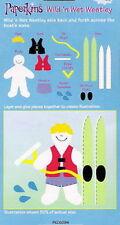 WILD N WET WESTLEY Boy in Life Jacket Ski Swim  EK Success Paperkins Paper Dolls