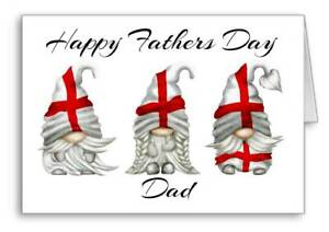 England Happy Fathers Day Card Gonk Gnome Flag Father's