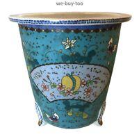 Antique, Porcelain, Signed, Cloisonne Bonsai Pot, Planter, Takeuchi Chubei