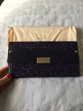 Jimmy Choo Reese Sequin Clutch Purple Glitter great condition genuine