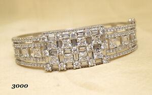 Cubic Zirconia Fashion Bracelet White Gold Plated 32 WB 1