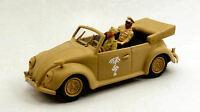 Volkswagen VW Action Figurerica Korps 2 Figures Rommel + Driver 1:43 Model RIO
