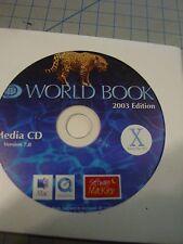 Macintosh Os-X Apple World Book 2003 Edition Media Cd Software 7.0 preowned