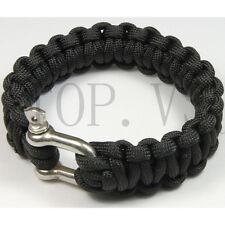 550 Paracord Parachute Cord Military Survival Bracelet Camping Metal shackle #1