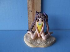 """#036 Pia Carrot Little Girl in Yellow Shirt Sitting in Sand 2""""in PVC Figure"""