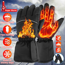 Heated Gloves Winter Electric Warmer Touch Screen Outdoor Motorcycle Mittens Ski