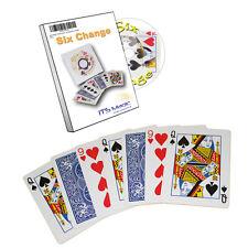 1581 Six Change Kartentrick inkl. DVD Wild Card Zaubertrick Zaubertricks zaubern