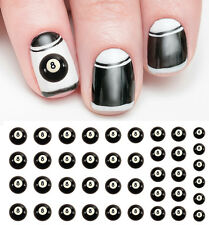 8 Ball Nail Decals  Nail Art Waterslide Decals - Salon Quality!