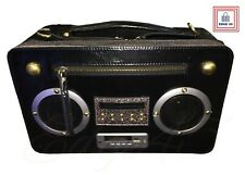 Black Boombox Speaker USB Radio SD Card Remote Control Shoulder Bag