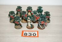 Warhammer 40k Space Marine Tactical Squad x 10 Marines LOT 830