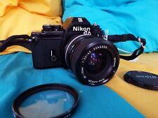 Nikon Em 35mm Slr with 35-70mm Nikon Nikkor zoom lens Film Teste 00004000 D