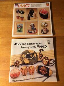2 FIMO modelling material books Eberhard Faber hobby