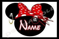 4x6 Disney Cruise Stateroom Door Magnet - PIRATE EYE PATCH WITH BOW PERSONALIZED