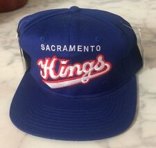 Extremely Rare Vintage 1990's Sacramento Kings STARTER Snapback Cap Hat