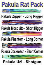 Pakula Rat Pack. Black Marlin Lure Spread. Unrigged Pakula Lures Marlin Pack