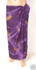 NEW LADIES TIE DYE PURPLE SARONG BEACH SKIRT WRAP THROW COVER UP DRESS / sa208