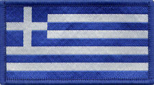 Greek Flag Greece Woven Badge, Patch 8cm x 4.5cm