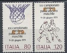 1979 ITALIA CAMPIONATO EUROPEO DI PALLACANESTRO BASKET MNH ** - ED