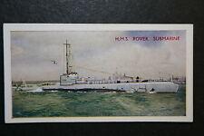 HMS Rover  Royal Navy Submarine   Vintage Inter War Period Colour  Card  VGC