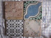 Antiche piastrelle mattonelle maioliche riggiole terracotta cotto