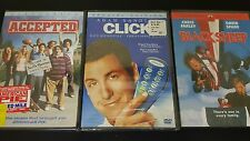 Dvd Comedy Lot Of 3 Brand New Click,Accepted, & Black Sheep Free Shipping
