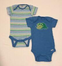 Gerber Baby Boy Dinosaur & Striped Onesies Size 3-9 Months
