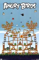 ANGRY BIRDS PIG FORT POSTER 22X34 NEW FREE SHIPPING