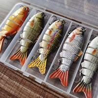 5pcs Bionic Swimming Lure Suitable For All Kinds Of Jointed Bait Multi Fish SALE