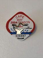 2004 Cape May Beach Tag. Free Shipping