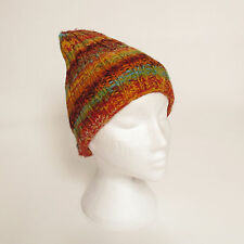 Funky Hand Knitted Winter Woollen Beanie Hat, One Size, UNISEX NB11