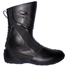 Richa Zenith Waterproof Leather Touring Commuter Motorcycle Boots - Black