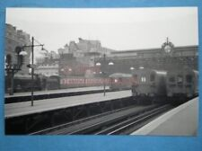 PHOTO  CHARING CROSS RAILWAY STATION 1958 WITH STEAM AND DIESEL IN VIEW