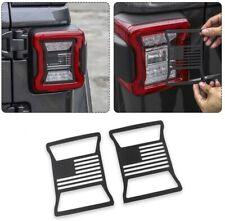 2pcs Tail Light Cover Trim Us Flag Guard For 2018 2021 Jeep Wrangler Jl Fits Jeep