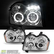 2005-2007 Jeep Grand Cherokee LED Halo Projector Headlights Headlamps Left+Right