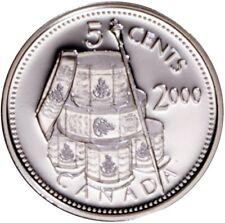 CANADA 2000 Silver 5 cents Proof Nickel - Les Voltigeurs de Quebec - TONED