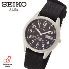 """New"""" ALBA Military Solar Watch AEFD557 & Box Water Resist / Daydate F/S from JP"""