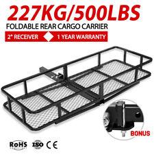 "227KG/500LB 58"" Rear Cargo Carrier Luggage Basket For 2"" Hitch Mount & Cargo Net"