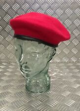 Genuine British Military RMP ROYAL Military police Issue Red Wool Beret  MP