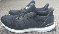 Adidas Ultra Boost 3.0 Trainers Black Core White & Dark Grey NEW BA8842 1.0 2.0
