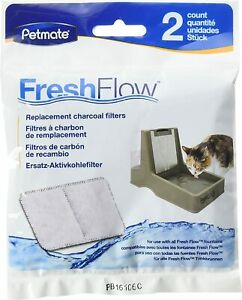 Petmate Fresh Flow fountain filter replacement charcoal 2 Pack filters