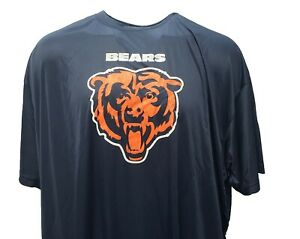 Chicago Bears Men's NFL Majestic Blue Poly Logo T-Shirt Big & Tall 5XL & 6XL