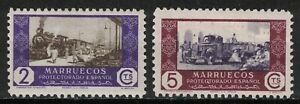 SPANISH MOROCCO:1948 SC#264-65 MNH Commerce by Railroad and by Truck  X192