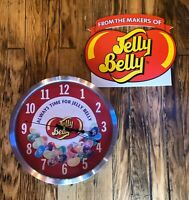 Vintage JELLY BELLY CLOCK & SIGN Jelly Beans Working Clock Kitchen Novelty Rare