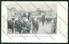 Firenze Mugello Militari Manovre cartolina QQ2362